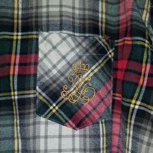 Ralph Lauren crested oversized flannel